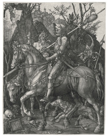 Albrecht Dürer (1471–1528), Ritter, Tod und Teufel (Der Reuther) (Knight, Death and the Devil)