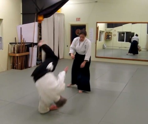 Rolling in Aikido