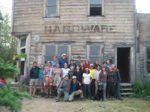 College field program group at the Old Hardware Store in McCarthy