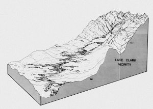 Alaska Natural Landscapes Lake Clark illustration