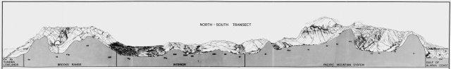 Alaska Natural Landscapes transect illustration