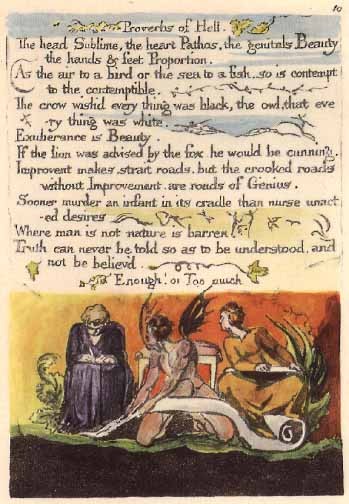 the proverbs of hell essay Analysis on w blake essays as william blake wittily comments, those who restrain desire the use of allusion to evoke memory in the proverbs of hell.