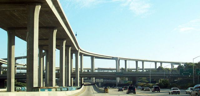 Los Angeles freeway interchange