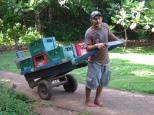 Gerardo Tinico delivering supplies to Casa Iguana