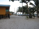 Uncrowded at high season, windward lodges are on the beach.