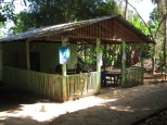 "El Bosque (""the forest"") restaurant on the main path across the island"