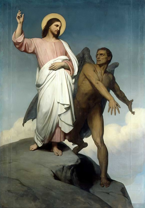 Temptation of Christ, by Ary Scheffer, 1854.